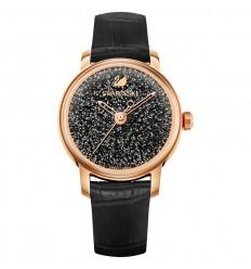 Swarovski Crystalline Hours watch 5295377 black dial pink gold