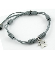 Bracelet silver grey knots Inson child BR507IN02