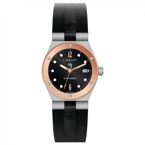 L.Bruat Scaphandre lady watch LB29 4409 Pink gold bezel
