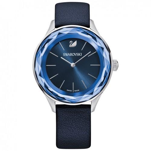 Octea Nova Swarovski 5295349 watch blue dial blue leather strap