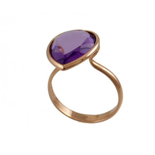 Ring gold pink Amethyst PLU/A001A: 03