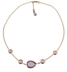 Necklace pink gold and Amethyst PLU/CO23A-43:03