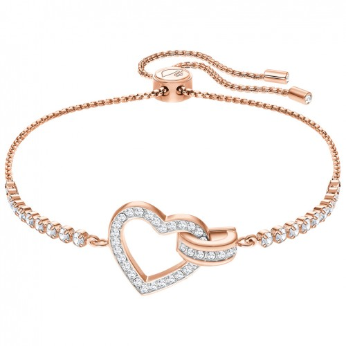 Swarovski Lovely bracelet 5368541 White crystals Rose gold plating