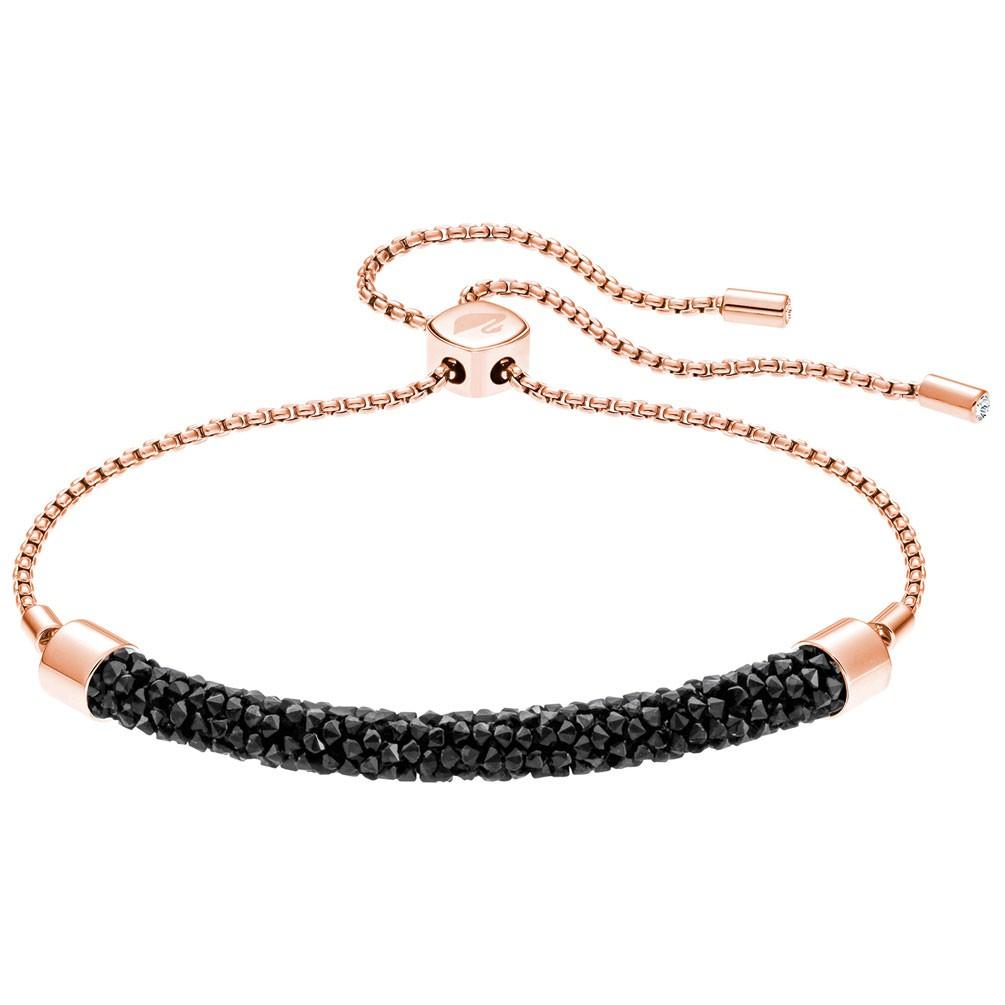 2ae8e3bff0d Pulsera Swarovski Long Beach 5404438 cristales negros oro rosa