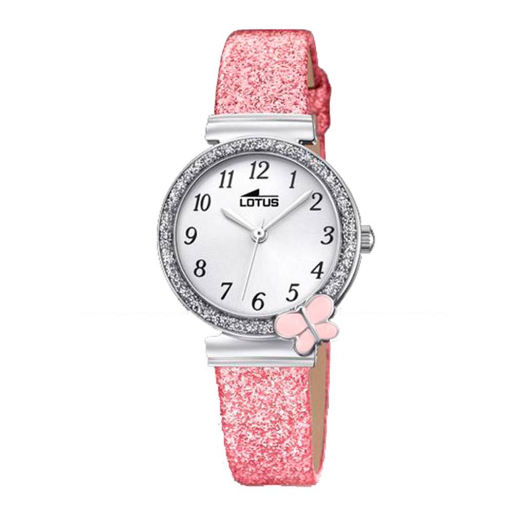5022409632f Reloj Lotus Niña 18584 1 Primera Comunión acero correa piel rosa