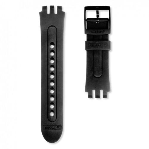 Black rubber strap Swatch watch Fun Scuba ASUGB001 21mm