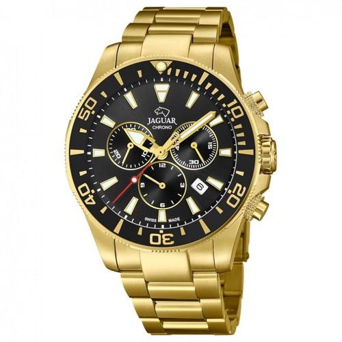 Jaguar Acamar Executive watch J864/3 Golden steel Black dial