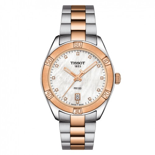 Tissot PR100 Sport Chic woman T1019102211600 White mother-of-pearl dial