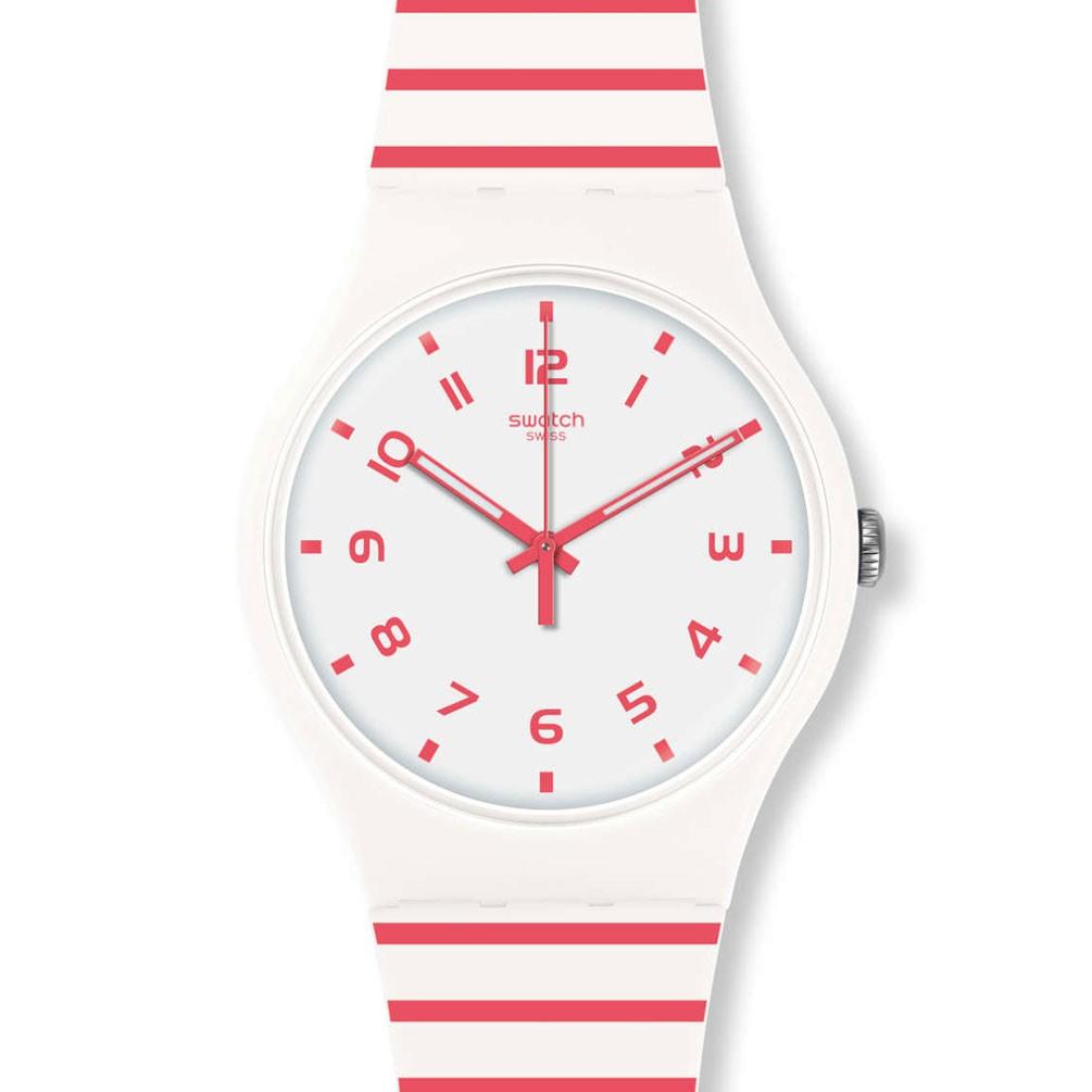 ead6b116eb1f Reloj Swatch New Gent REDURE SUOW150 Blanco y rojo