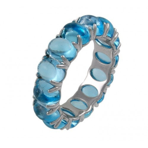 Ring white gold with Topazios blue CAP/A002T: 01