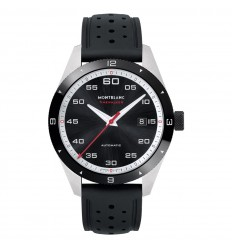 Montblanc Timewalker Watch 116059 Automatic Black dial Rubber strap
