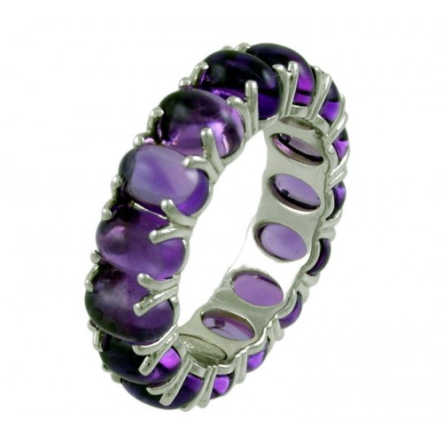 Ring white gold and Amethyst CAP/A002A: 01