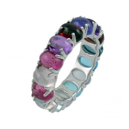 Ring white gold Multicolor CAP/A002X: 01