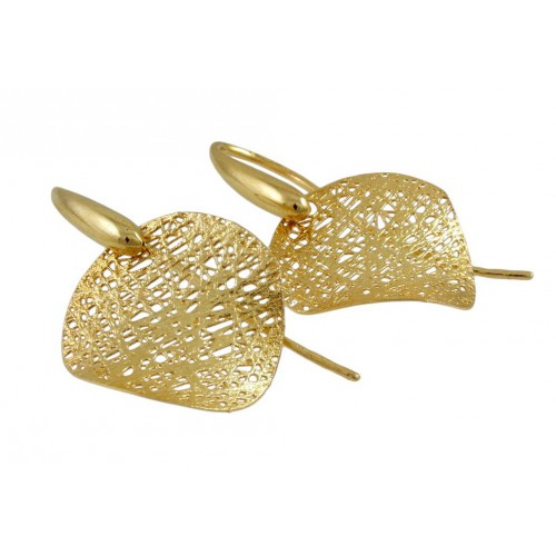 Long earrings in yellow gold A22-OR12: 00