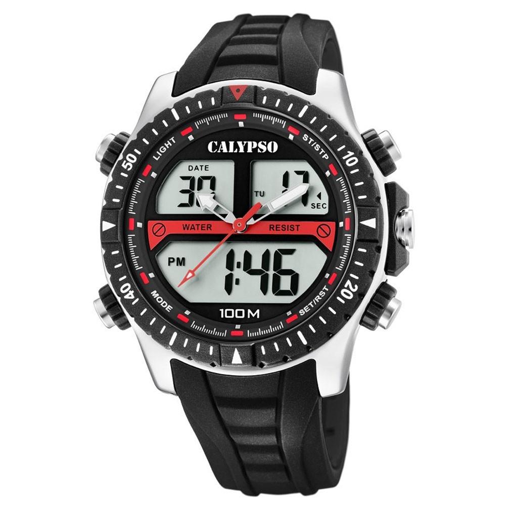 2dc0173689ec Reloj Calypso Versatile K5773 4 Analógico Digital Correa negra plástico