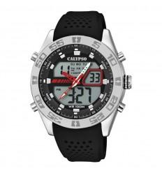674ea0a2eafe Calypso Streetstyle Watch K5774 4 Analog digital black rubber strap