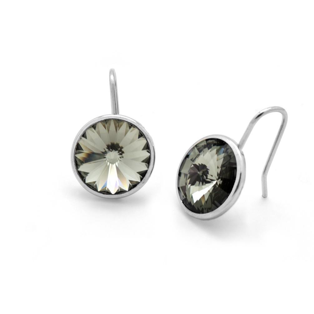 8a81cb6d5224 Pendientes plata Victoria Cruz con cristal redondo Swarovski A2521-3T