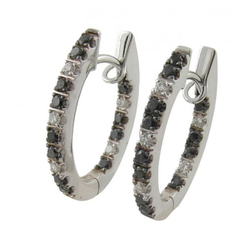 Earrings in white gold and diamonds black A01-27214BBK: 01