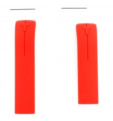 Red silicone strap Tissot T-Touch II models T047420A 21mm T610035317