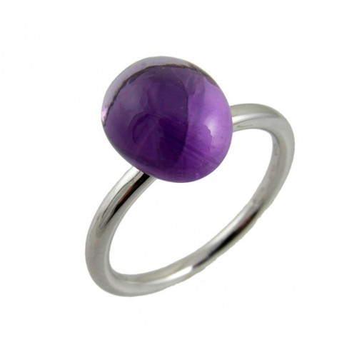 Ring white gold Amethyst MET/A624A: 01