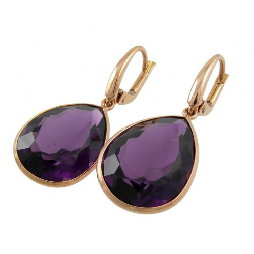 Earrings in rose gold and Amethyst PLU/00025A: 03