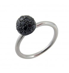 Ring white gold and diamonds black A01-2635K: 07