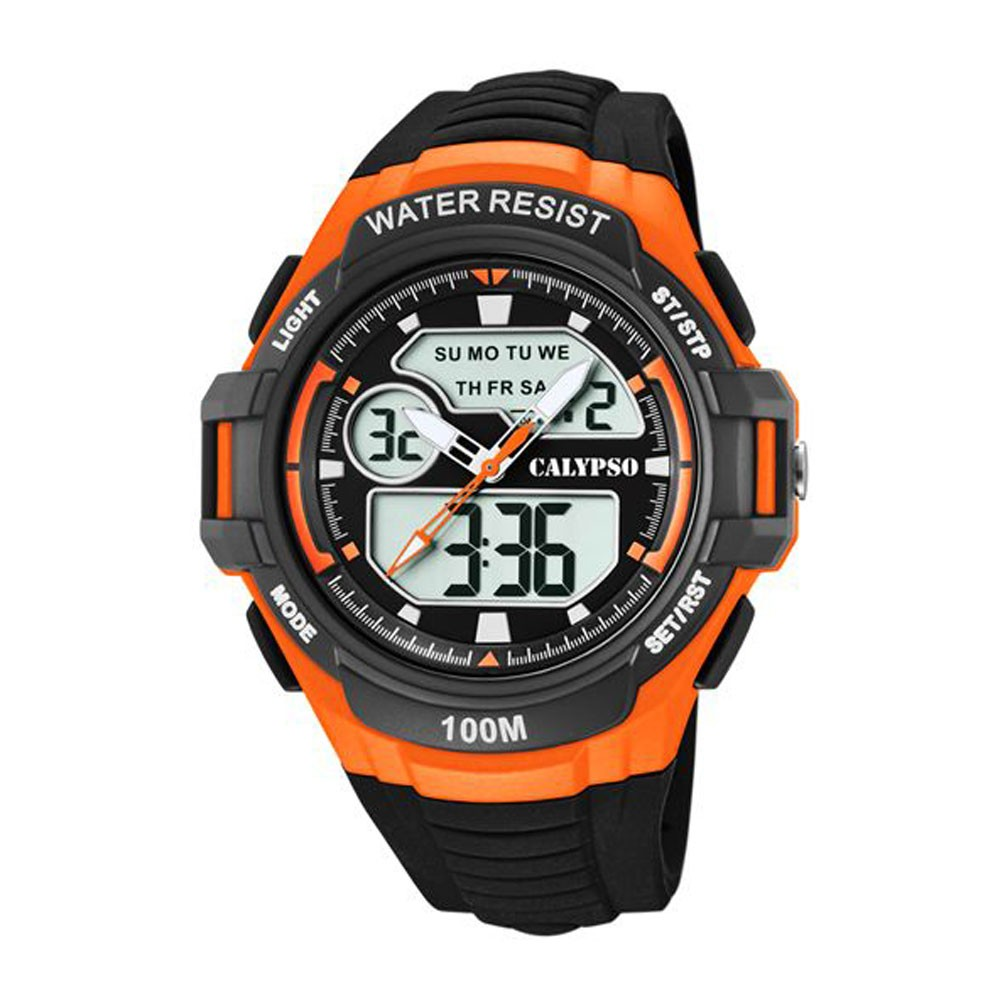 e4d00ae396d4 Reloj Calypso K5770 2 Analógico Digital con detalles en naranja
