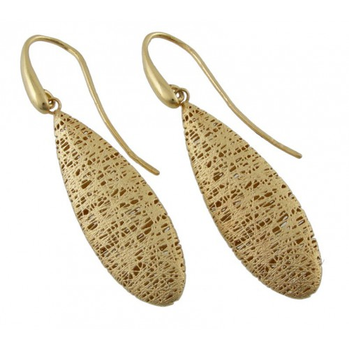 Long earrings in yellow gold A22-OR14: 00