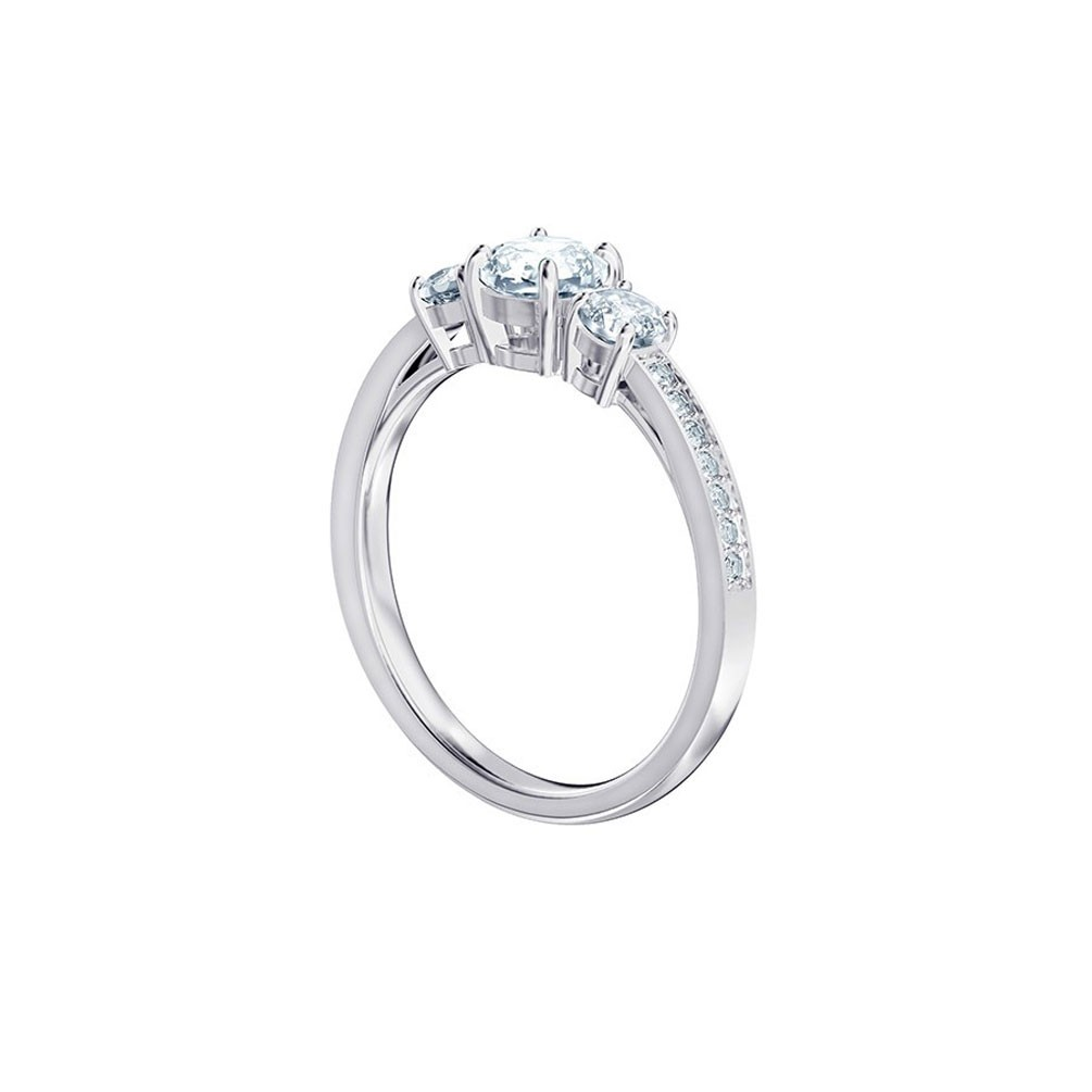 6381b2937 Attract Trilogy Swarovski ring 5448901 5414972 White Rhodium plating