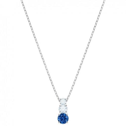 Swarovski Attract Trilogy Pendant 5416156 Blue Rhodium plating