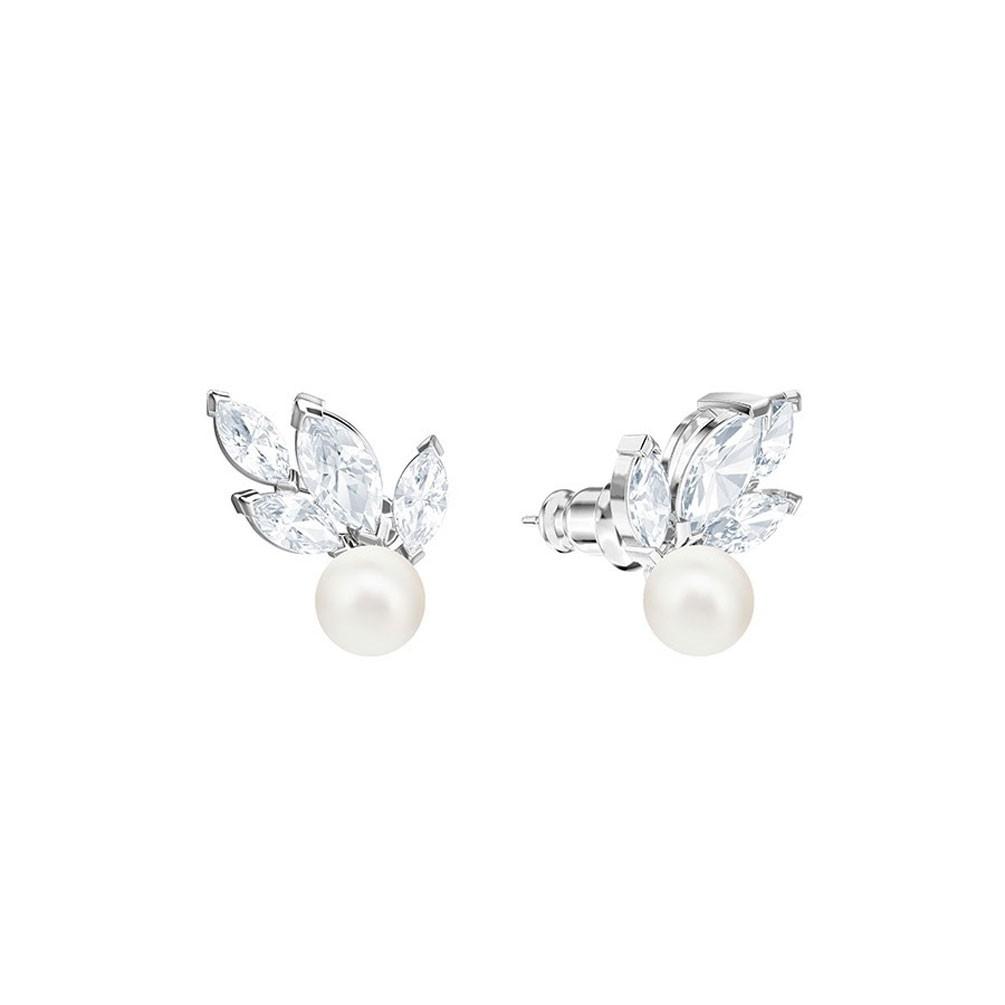 b72262d4a486c Swarovski Louison Pearl pierced earrings 5422683 White Rhodium plating