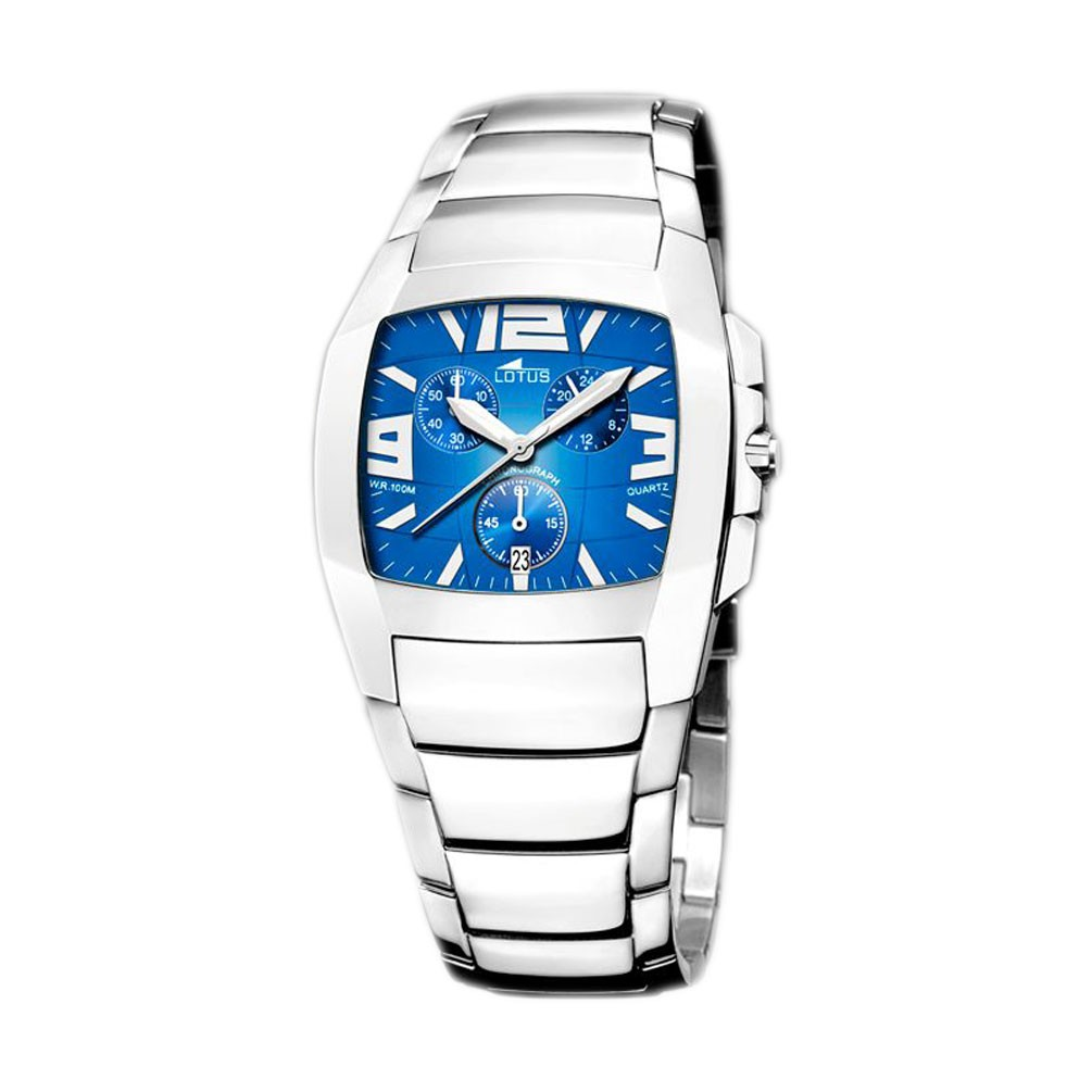 be02357cf03a Reloj Lotus Shiny 15313 5 esfera azul brazalete acero inoxidable