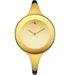 Calvin Klein Mirror gold satin watch K2813209 K2814209
