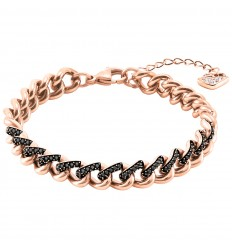 Swarovski Lane Bracelet 5414993 Black Rose gold plated