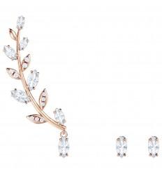 343633a2085b Pendientes Swarovski Mayfly 5409727 cristales blancos baño oro rosa ...