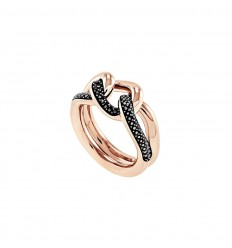 0d1ce4a6c Swarovski Lane ring 5424193 Black Rose gold plating ...