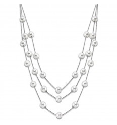 Lotus Style Pearls Women Necklace LS1998-1/1 stainless steel