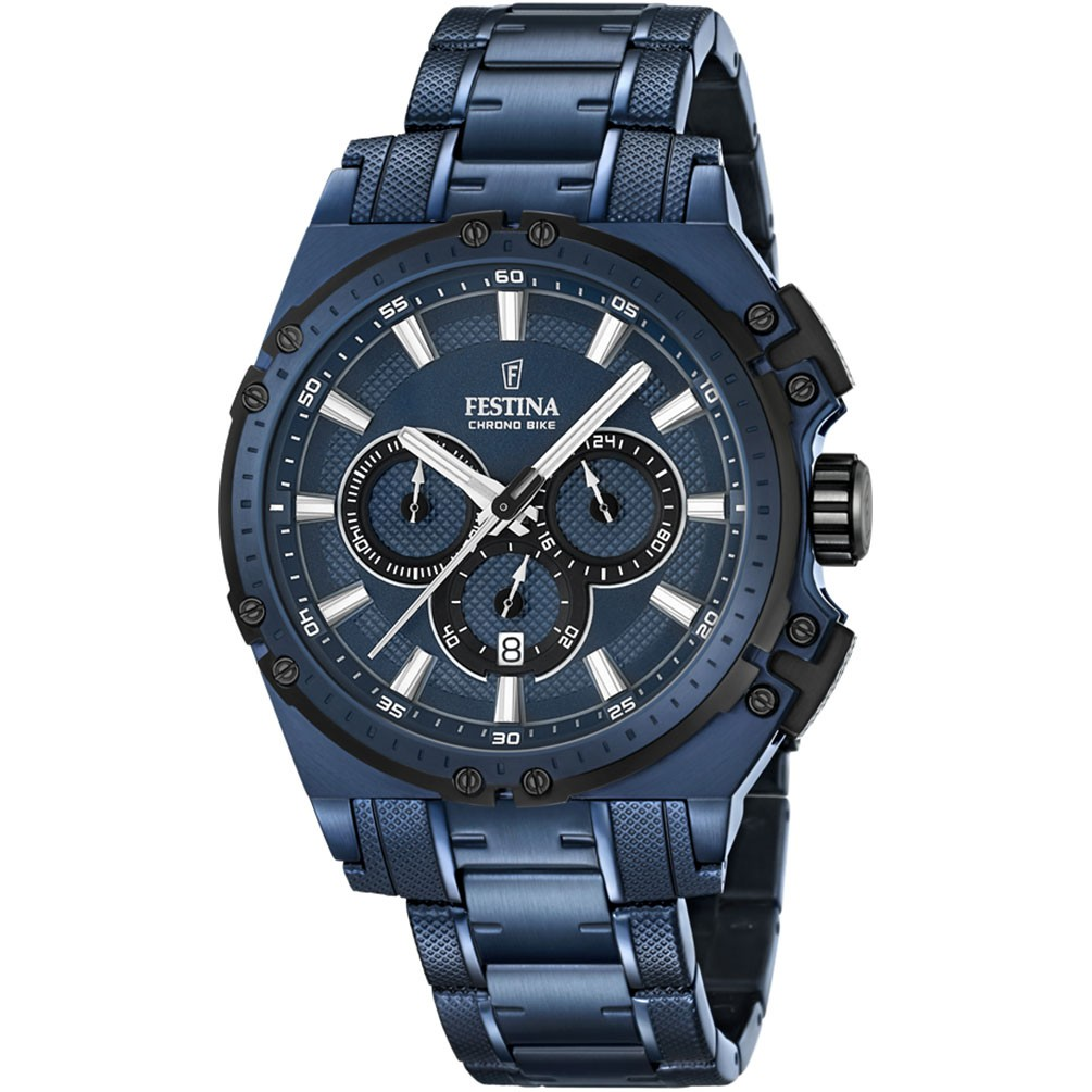 bd66d7e41e2d Reloj Festina Chrono Bike F16973 1 Acero color azul 44mm diámetro