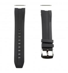 Black rubber strap T603034055 Tissot PRC 200 Automatic T055427A 23mm