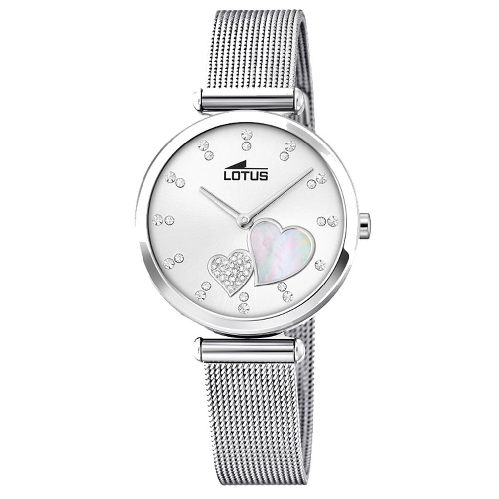 a4dd9263f72e Reloj Lotus Bliss Swarovski 18615 1 esfera blanca correa malla milanesa