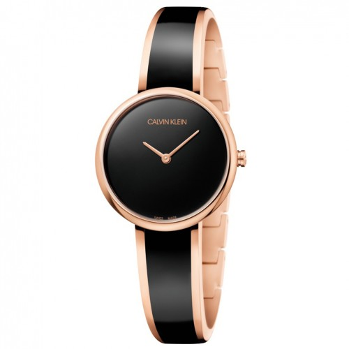 Calvin Klein SEDUCE woman watch K4E2N611 rose gold steel black dial