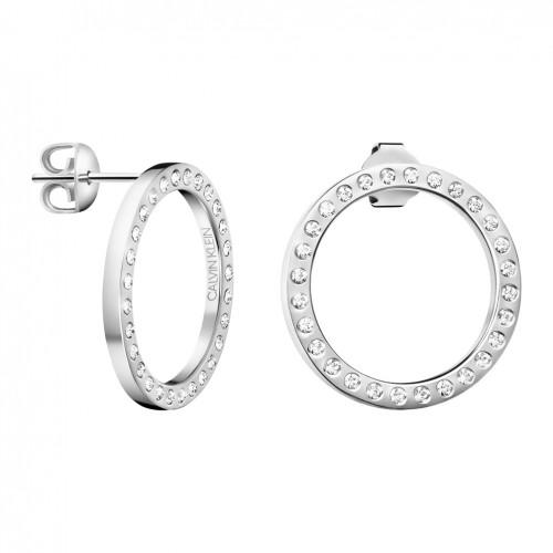 Calvin Klein Hook earrings KJ06ME040200 steel clear crystals