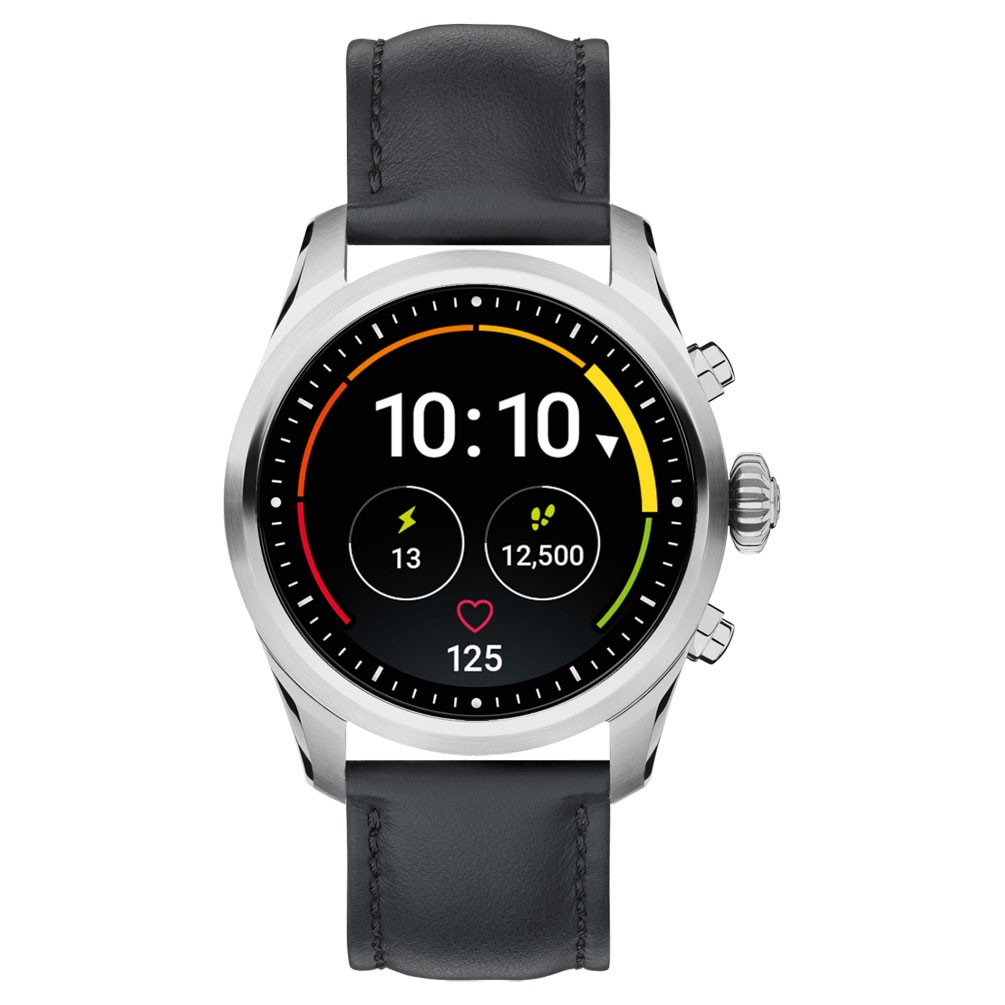 669b77d787df Reloj Montblanc Summit 2 Smartwatch 119440 Acero inoxidable piel negra