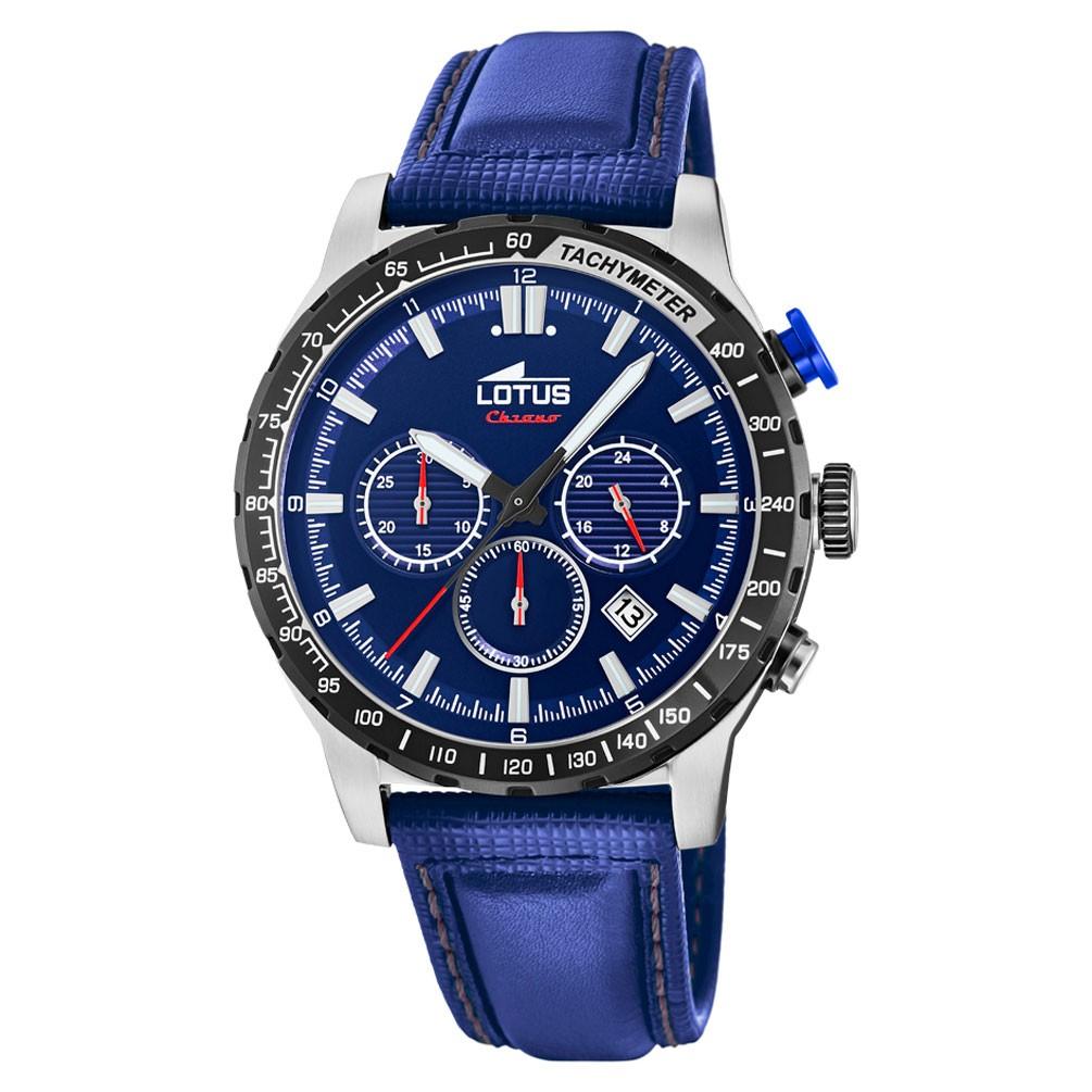 8172f0360dde Reloj Lotus Color Multifunción Hombre 18587 2 Esfera azul correa piel
