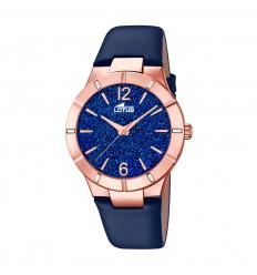 d1abc4bf2015 Reloj Lotus Trendy mujer 18610 4 Acero esfera azul correa piel azul