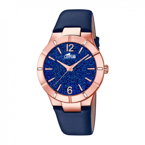 Lotus Trendy watch woman 18610/4 Steel blue dial blue leather strap
