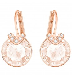 c587467c8 Bella V Swarovski earrings 5299318 Pink crystals Rose gold plating ...