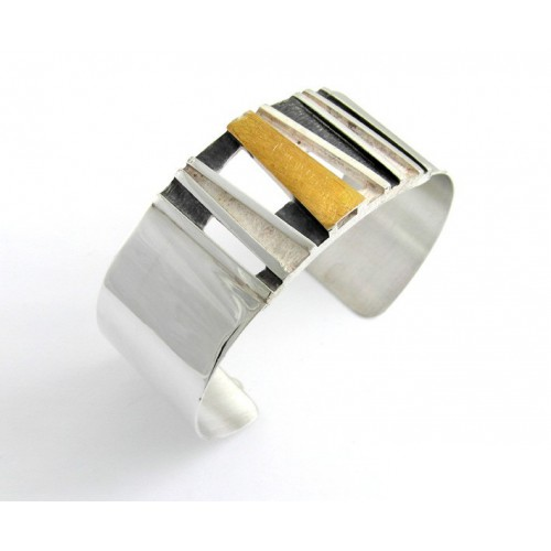 Slave silver and yellow gold E1628