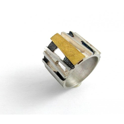 S1628 gold and silver ring