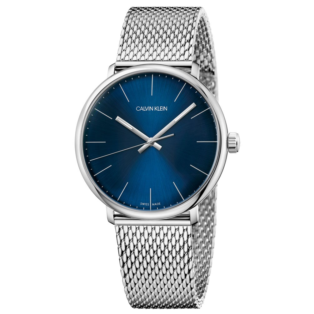 Detalles de Reloj Calvin Klein High Noon K8M2112N Esfera azul brazalete malla